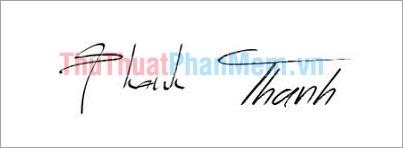 Mẫu chữ ký đơn giản tên Thanh