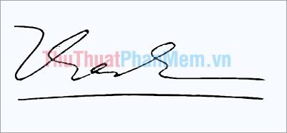 Mẫu chữ ký đơn giản tên Thành