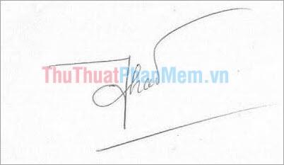 Mẫu chữ ký đơn giản tên Thảo