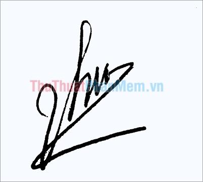 Mẫu chữ ký đơn giản tên Thu đẹp