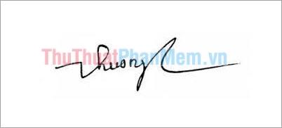 Mẫu chữ ký đơn giản tên Thu Huơng