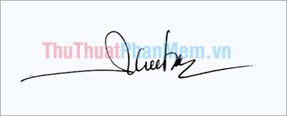 Mẫu chữ ký đơn giản tên Thu Trang