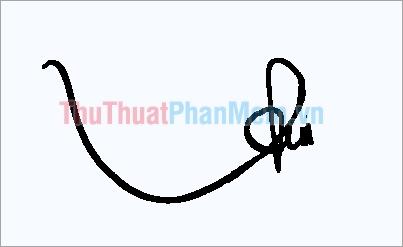 Mẫu chữ ký đơn giản tên Thu