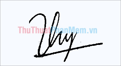 Mẫu chữ ký đơn giản tên Thy