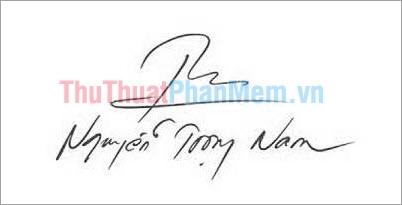 Mẫu chữ ký đơn giản tên Trọng Nam