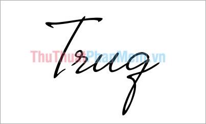 Mẫu chữ ký đơn giản tên Trung