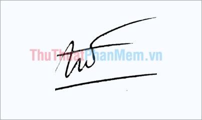 Mẫu chữ ký đơn giản tên Tú