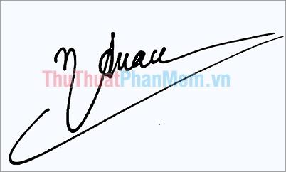 Mẫu chữ ký đơn giản tên Tuấn