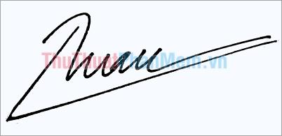 Mẫu chữ ký đơn giản tên Tuân