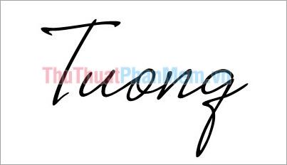 Mẫu chữ ký đơn giản tên Tường
