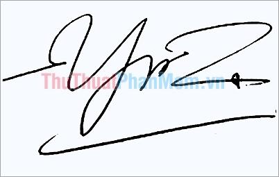 Mẫu chữ ký đơn giản tên Yến
