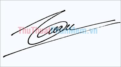 Mẫu chữ ký tên Tuấn đẹp