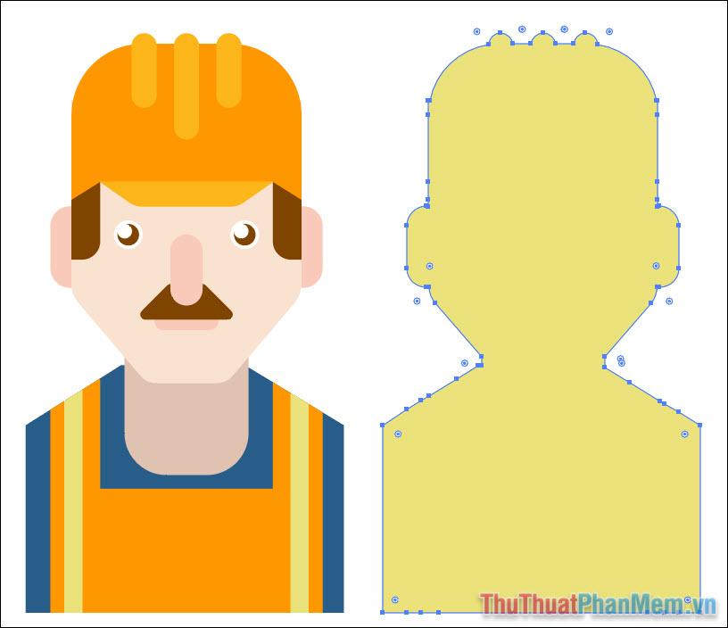 Vẽ avatar chuyên nghiệp bằng Adobe Illustrator (43)