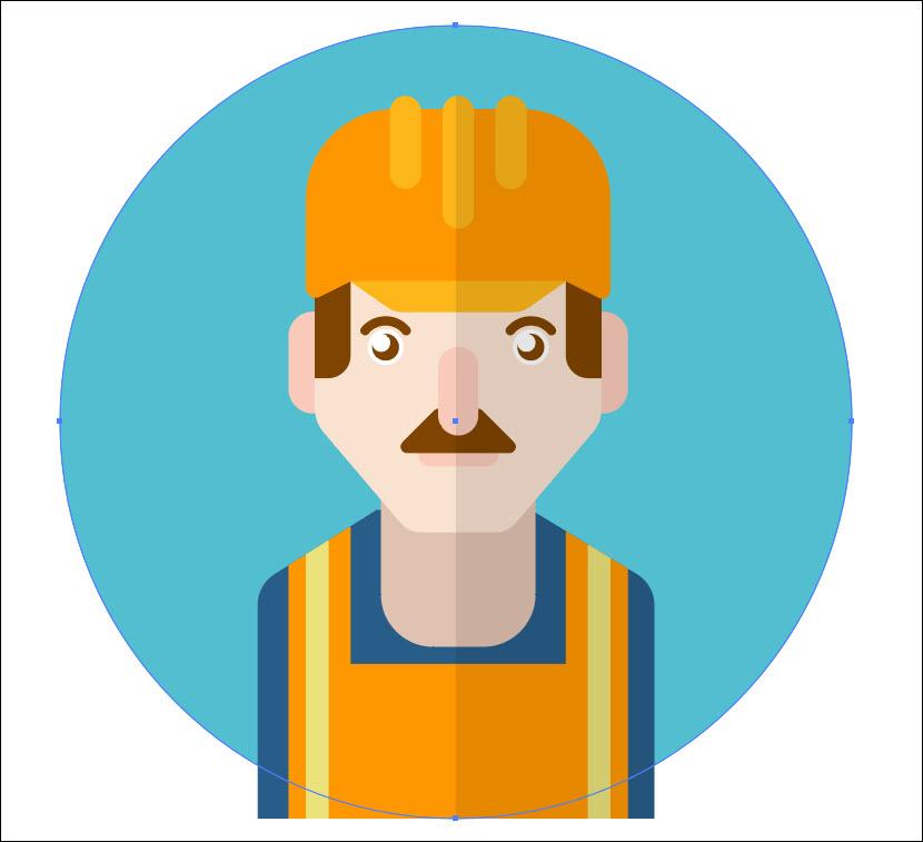 Vẽ avatar chuyên nghiệp bằng Adobe Illustrator (54)