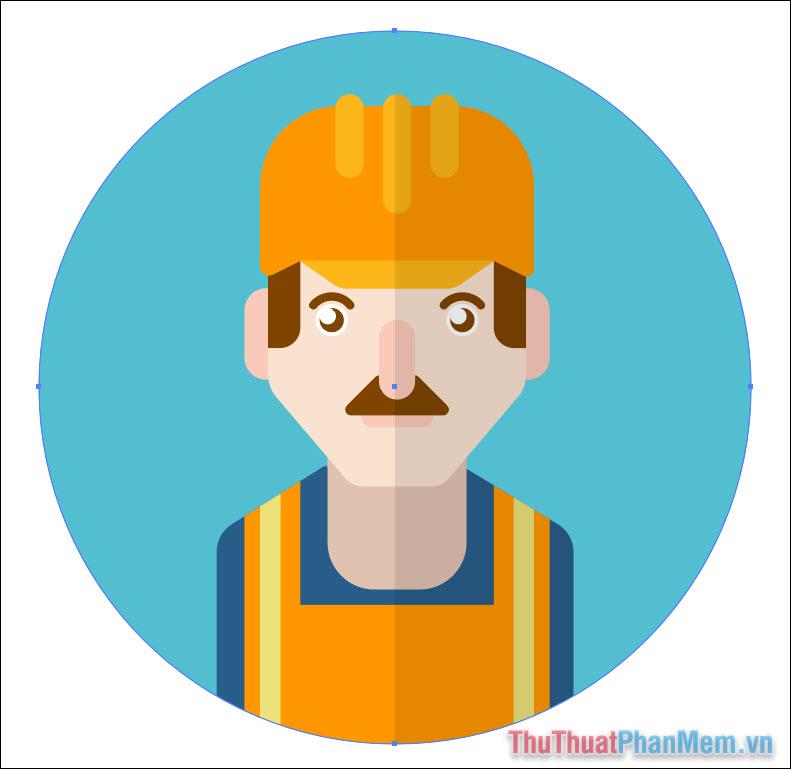 Vẽ avatar chuyên nghiệp bằng Adobe Illustrator (57)
