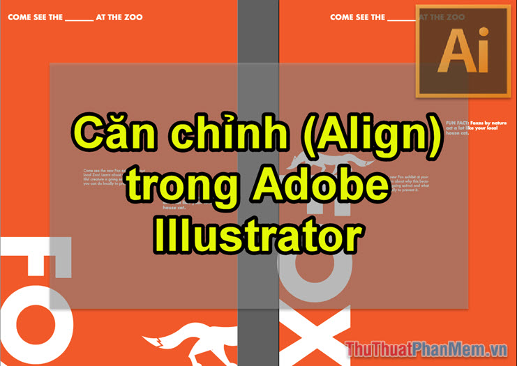 Căn chỉnh (Align) trong Adobe Illustrator