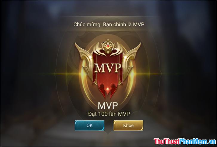 Điều kiện đạt MVP