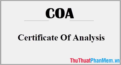Định nghĩa COA