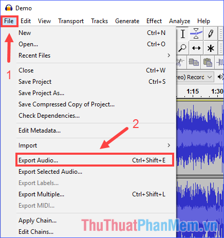 Export Audio