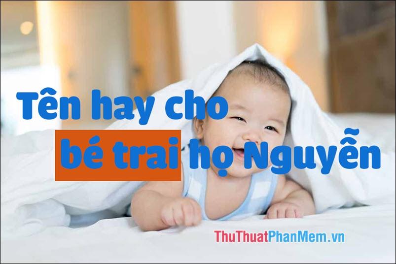 Tên hay cho bé trai họ Nguyễn