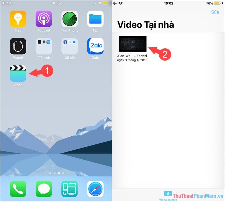 Mở ứng dụng Video
