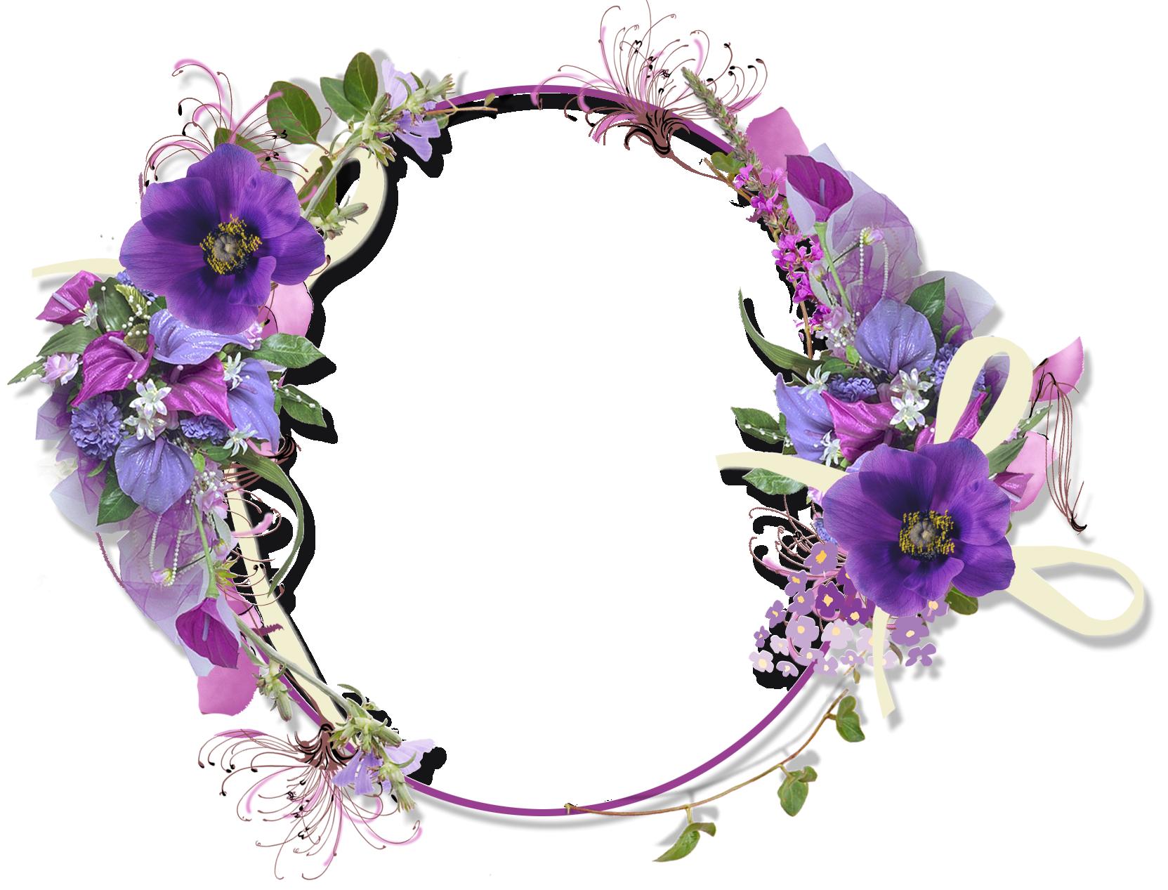 Khung ảnh hoa tròn