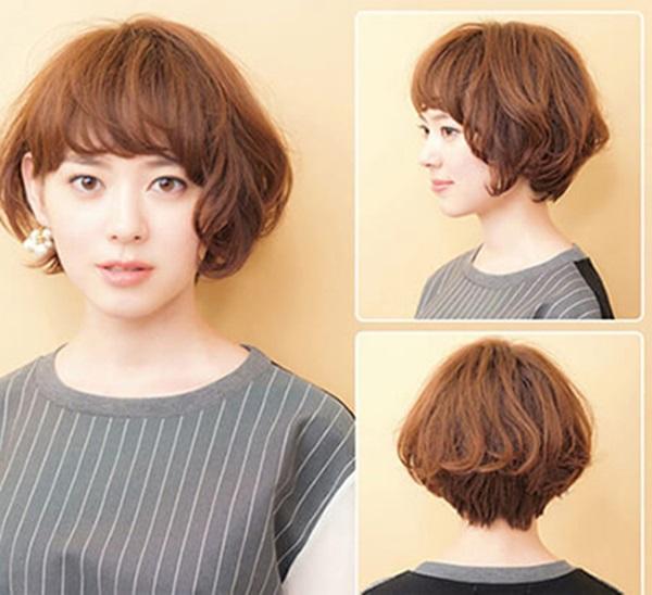 Kiểu tóc bob xoăn nhẹ đẹp