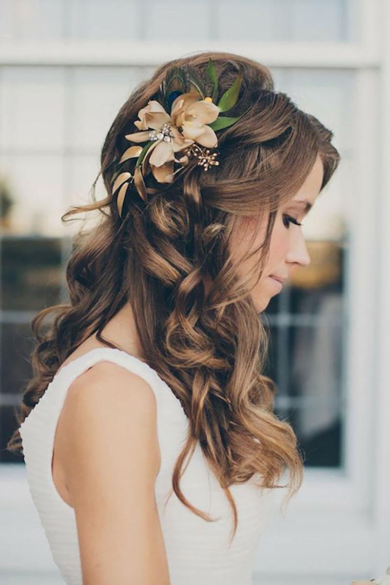 Kiểu tóc cô dâu cho mặt vuông đẹp nhất ngày cưới
