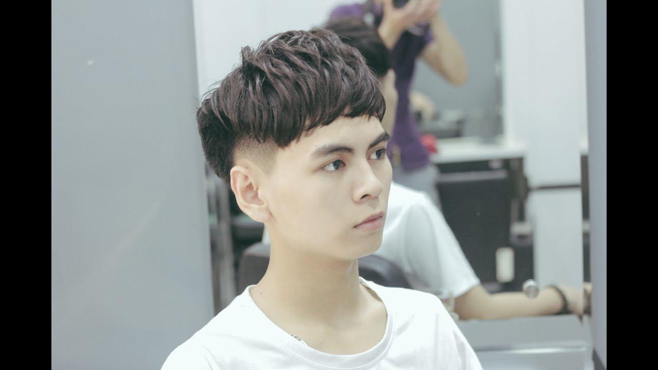 Kiểu tóc layer nam cho mặt trái xoan