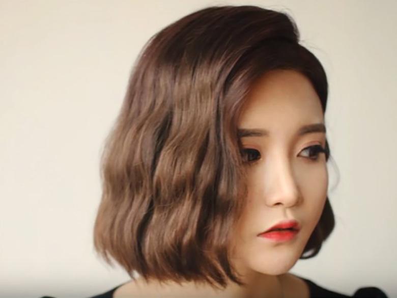 Kiểu tóc xoăn ngắn đẹp cho mặt dài