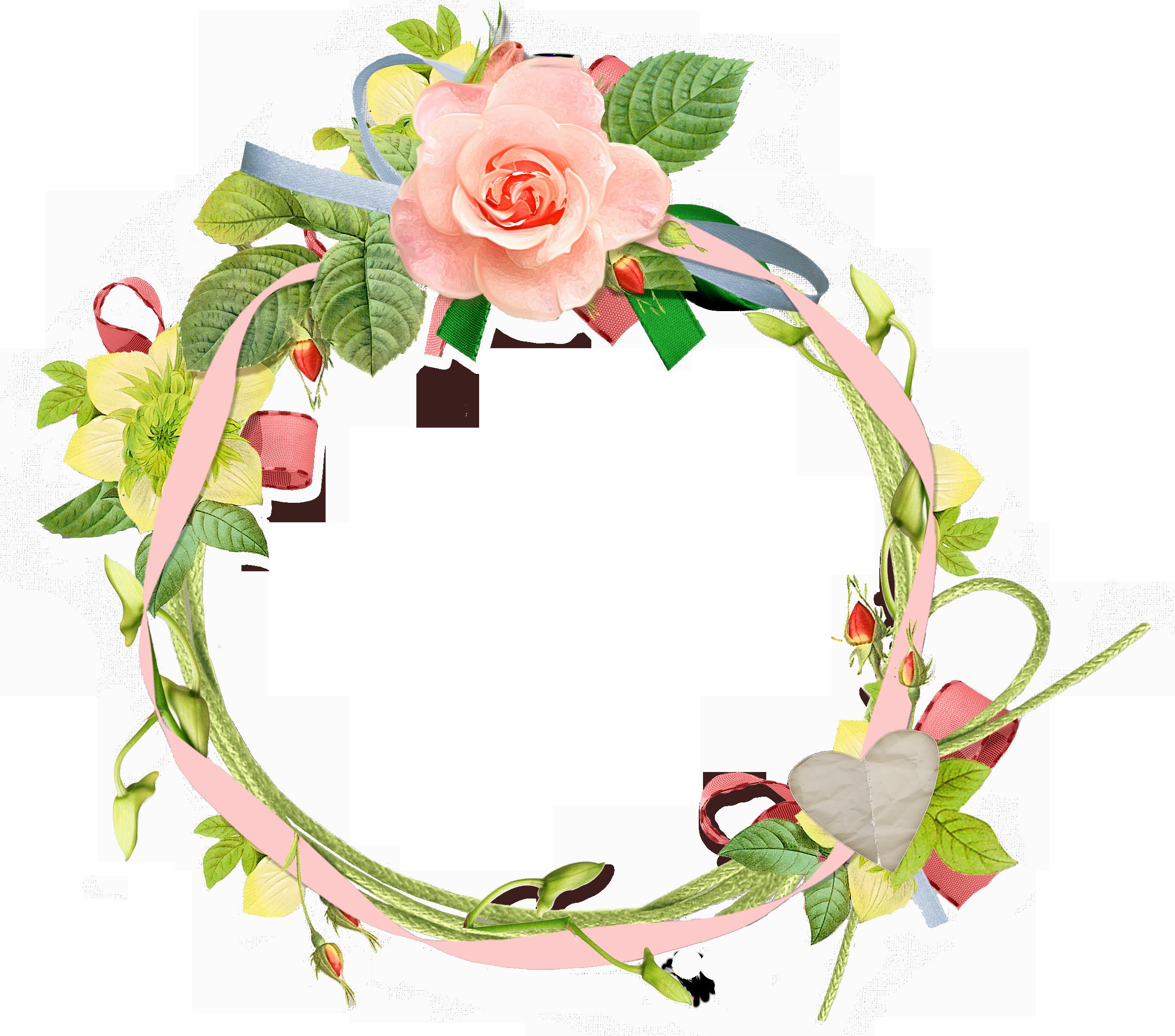 Những khung ảnh hoa tròn