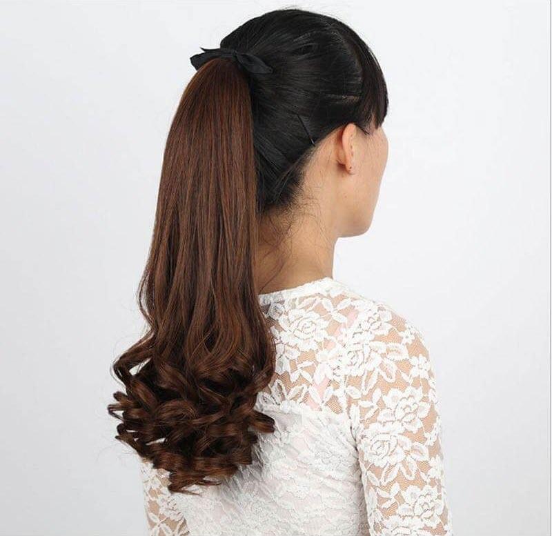 Tóc dài xoăn đuôi đẹp