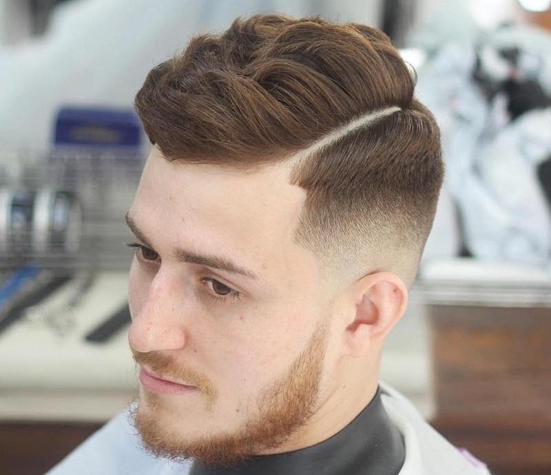 Kiểu tóc nam undercut ngắn uốn phồng