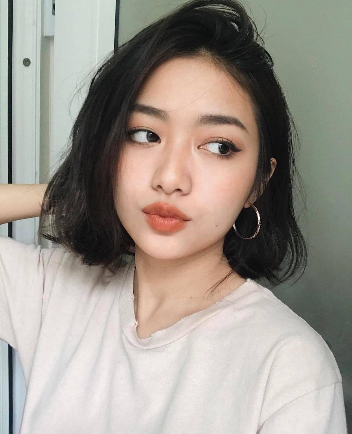 Kiểu tóc ngắn cho khuôn mặt tròn dễ thương