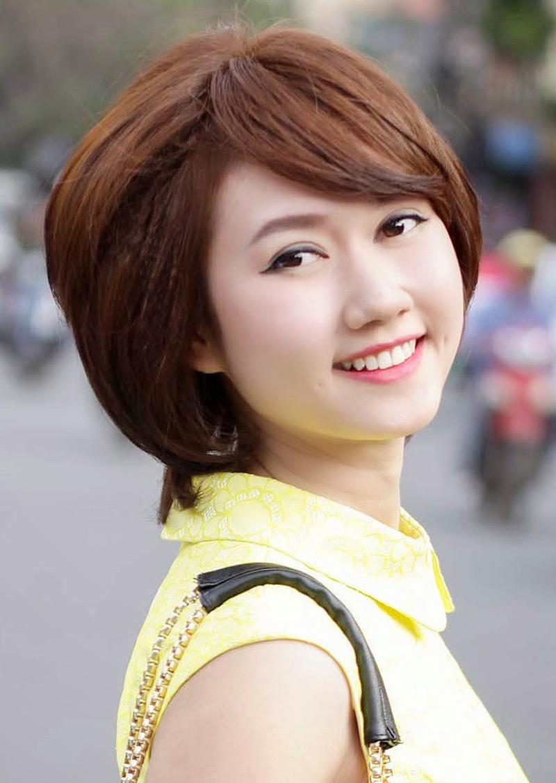 Kieur tóc ngắn đẹp cho mặt tròn