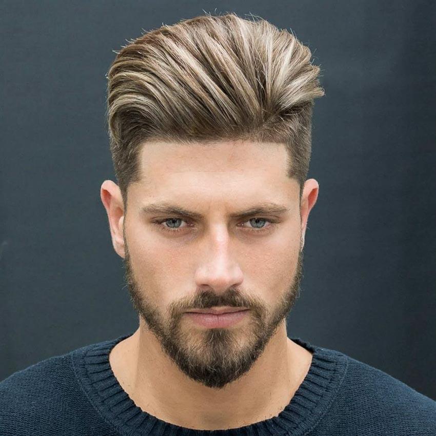 Tóc ngắn cho nam mặt tròn