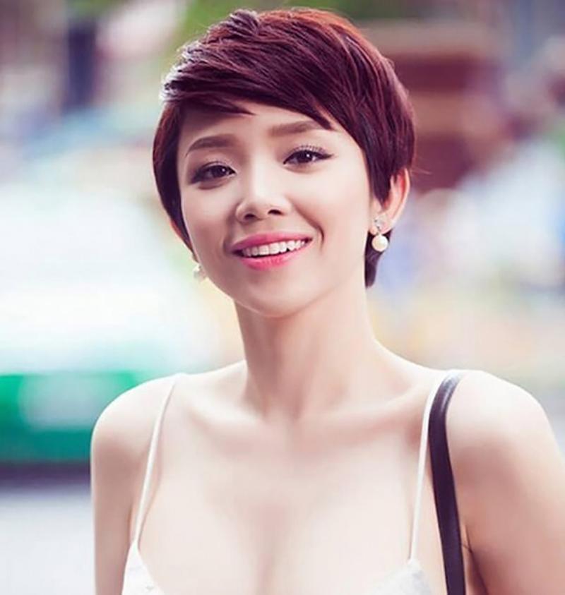 Tóc ngắn cho nữ mặt tròn đẹp nhất
