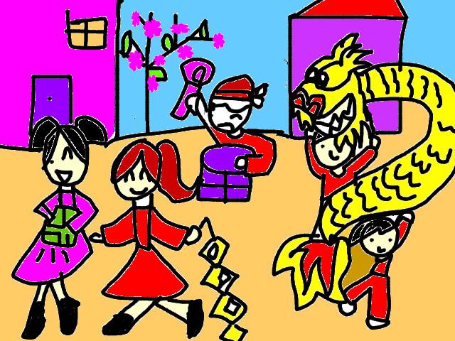Tranh vẽ lễ hội của thiếu nhi