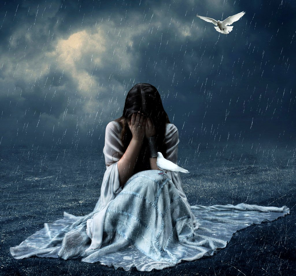 Hình ảnh cô gái buồn đẹp