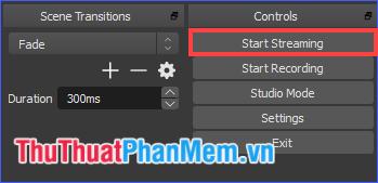 Click vào Start Streaming để bắt đầu phát trực tiếp
