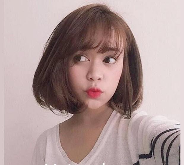 Kiểu tóc mái thưa Hàn Quốc