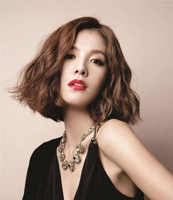 Tóc ngắn gợn sóng Hàn Quốc