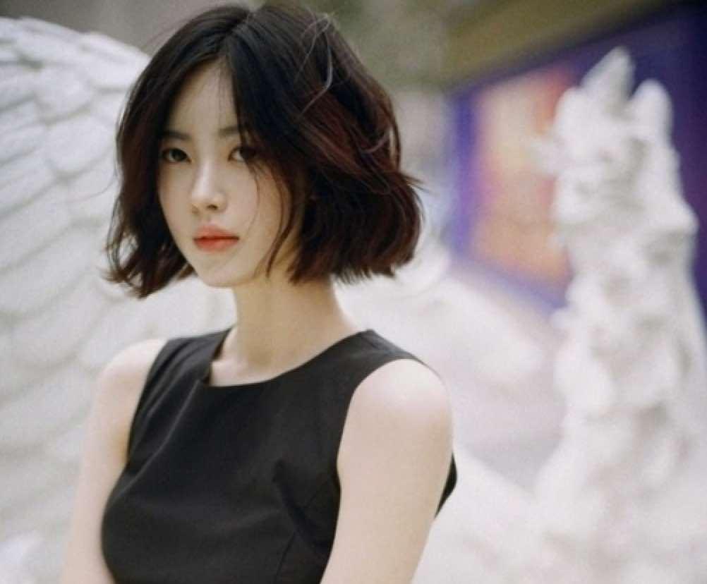 Tóc ngắn Hàn Quốc cho mặt tròn