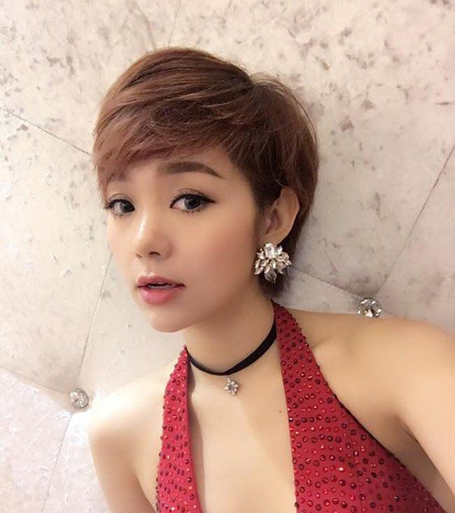 Tóc tém của ca sĩ  Minh Hằng