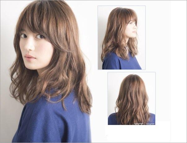 Kiểu tóc ngắn uốn xoăn nhẹ