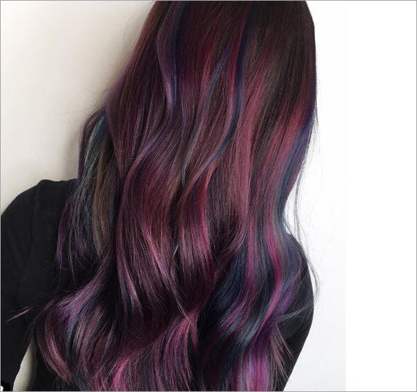 Màu tóc nhuộm ánh tím đẹp