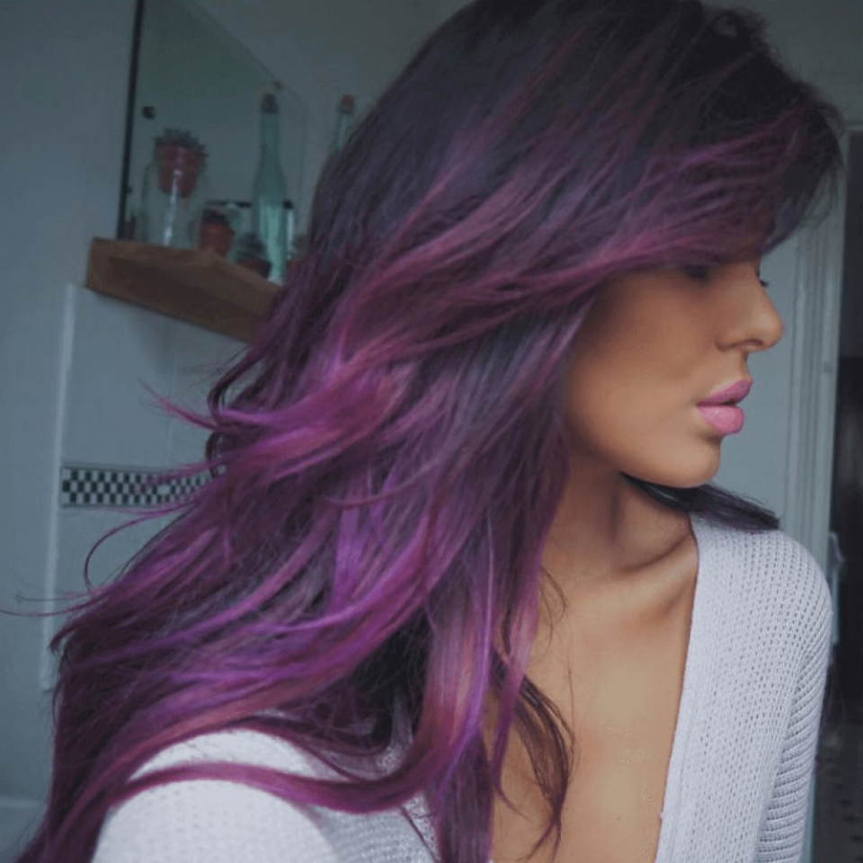 Màu tóc tím đẹp