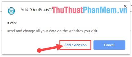 Chọn tiếp Add extension