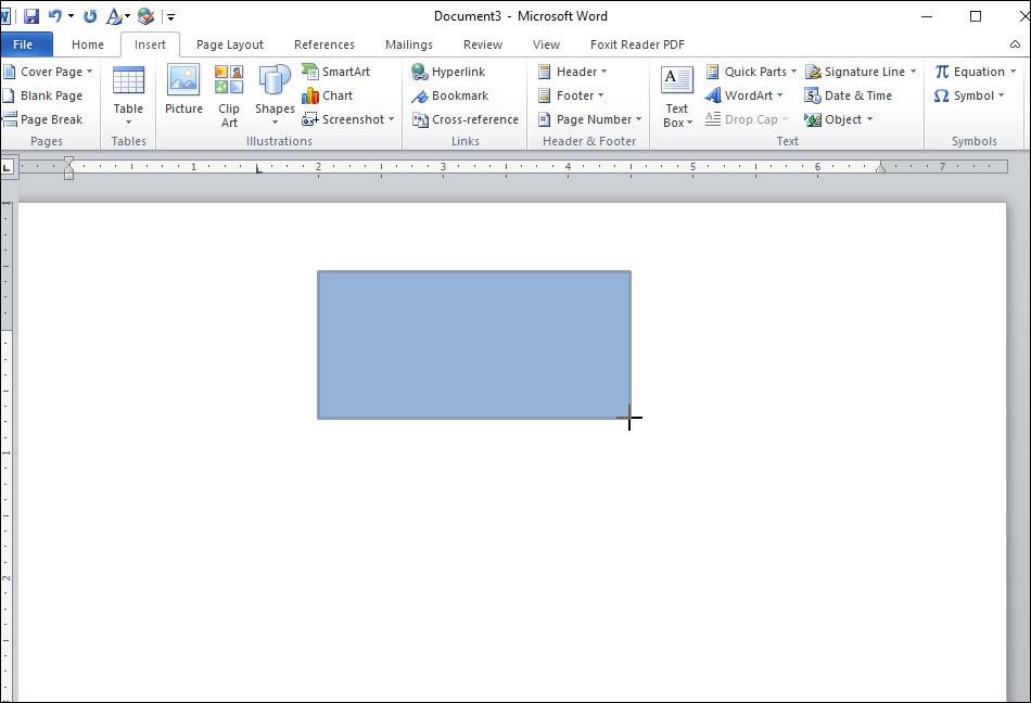 Giữ chuột trái đồng thời kéo chuột để tạo thành hình chữ nhật