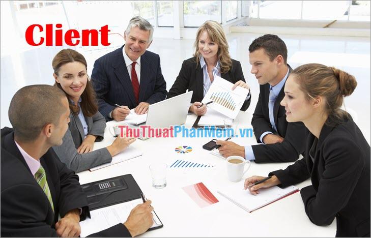 Các vị trí Client